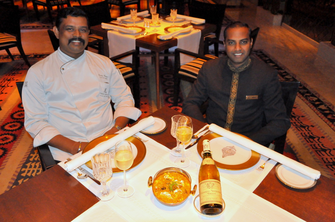 Veg Food and wine Jamavar, Leela Palace Chennai