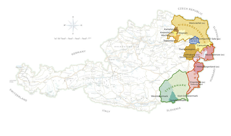 Austrian Wine Map
