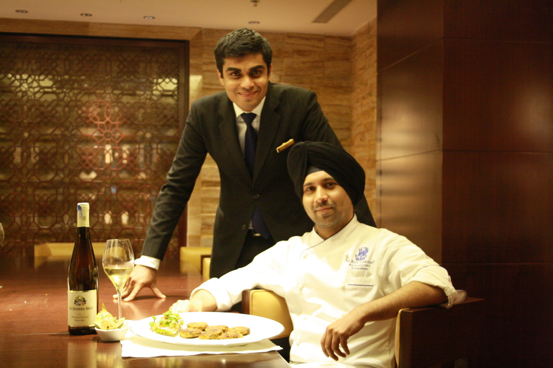 Food and Wine at Riwaz Ritz carlton Bangalore